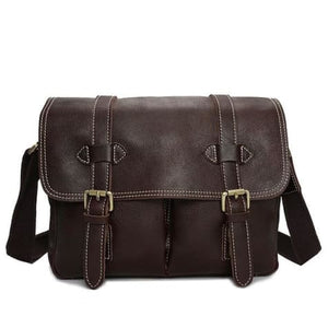 Le Marron full Grain Leather Dslr Camera/messenger Bag Dark Brown Premium Leather