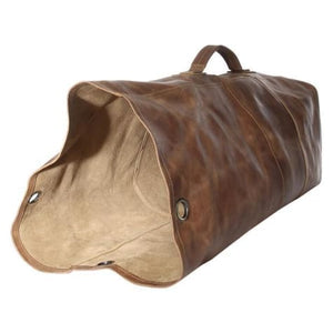 Leather 24 Army Style Travel Duffel Bag Premium Leather