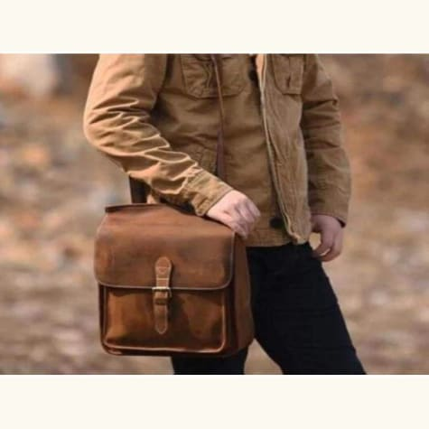 Leather Backpack/messenger Bag Crazy Horse Premium Leather
