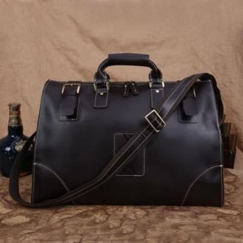 Leather Buckled Duffle/travel & Overnight Bag Premium Leather
