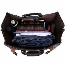 Load image into Gallery viewer, Leather Buckled Duffle/travel & Overnight Bag Premium Leather