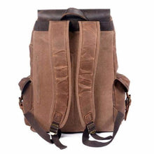Load image into Gallery viewer, Leather & Canvas Large Capacity Travel Backpack Premium Leather