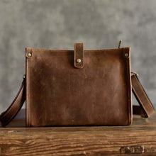Load image into Gallery viewer, Leather Crazy Horse Messenger/shoulder Bag Premium Leather