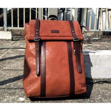 Load image into Gallery viewer, Leather Handcrafted Backpack Travel Packsack Vintage Brown Premium Leather