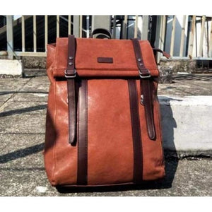 Leather Handcrafted Backpack Travel Packsack Vintage Brown Premium Leather