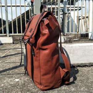 Leather Handcrafted Backpack Travel Packsack Premium Leather
