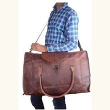 Load image into Gallery viewer, Leather Handcrafted Classic Travel/duffle Bag Premium Leather