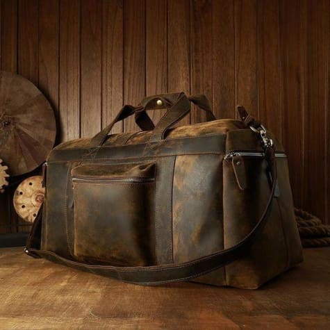 Leather Handcrafted full Grain Travel/duffle Bag Premium Leather