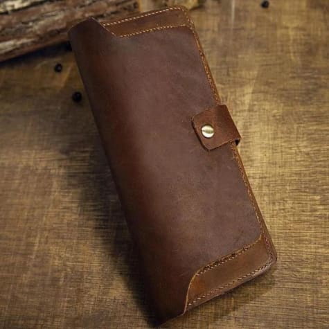 Leather Handcrafted Practical Long Wallet/clutch Premium Leather