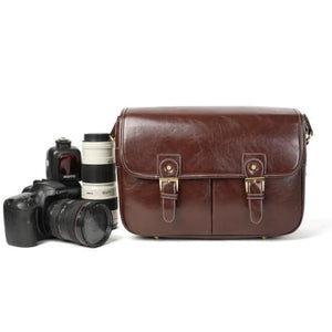 Leather Hunter Photographic Dslr Camera Bag Coffee Premium Leather