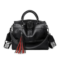 Load image into Gallery viewer, Leather Luxury Designer Purse & Crossbody Bag for Women Black Premium Leather