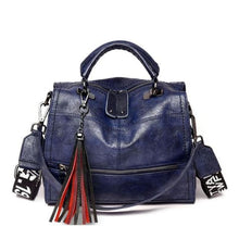 Load image into Gallery viewer, Leather Luxury Designer Purse & Crossbody Bag for Women Blue Premium Leather
