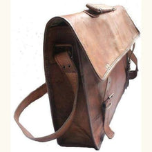 Load image into Gallery viewer, Leather Messenger Bag Indiana Jones Style Premium Leather