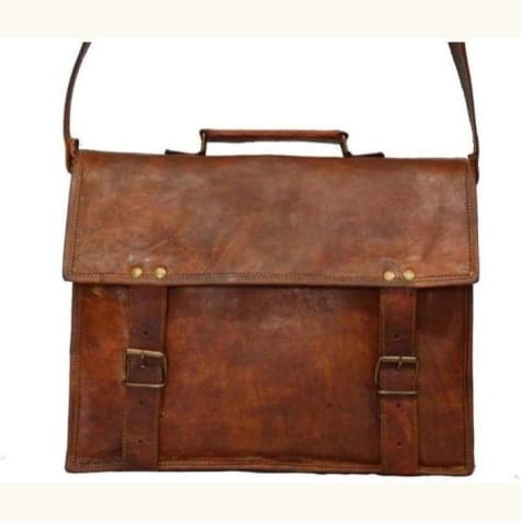 Leather Messenger Bag Indiana Jones Style Premium Leather