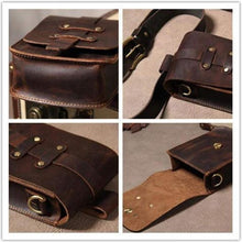 Load image into Gallery viewer, Leather Mini Messenger Shoulder Waist Bag Premium Leather