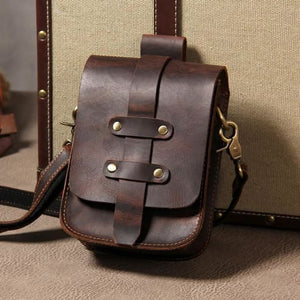 Leather Mini Messenger Shoulder Waist Bag Premium Leather