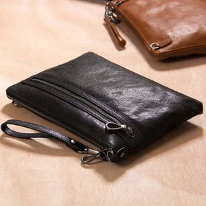 Leather Trendsetter Envelope Messenger Bag & Clutch Premium Leather