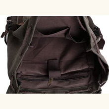 Load image into Gallery viewer, Leather Trim Backpack Travel With Waxed Canvas