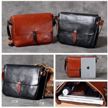 Load image into Gallery viewer, Leather Vegetable Tanned Messenger Bag