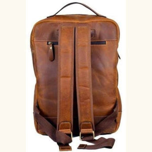 Leather Womens Classic Dusty Brown Backpack