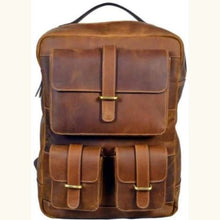 Load image into Gallery viewer, Leather Womens Classic Dusty Brown Backpack