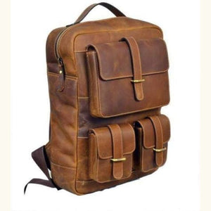 Leather Women's Classic Dusty Brown Backpack Premium Leather