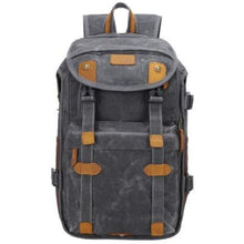 Load image into Gallery viewer, Lowepro Batik Canvas Camera Backpack Large Waterproof Photography Bag Dark Gray Premium Leather