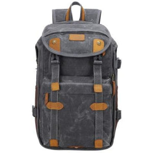 Lowepro Batik Canvas Camera Backpack Large Waterproof Photography Bag Dark Gray Premium Leather