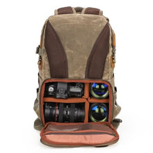 Load image into Gallery viewer, Lowepro Batik Canvas Camera Backpack Large Waterproof Photography Bag Premium Leather