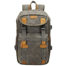 Load image into Gallery viewer, Lowepro Batik Canvas Camera Backpack Large Waterproof Photography Bag Army Green Premium Leather