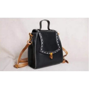 Luxurious Handcrafted Leather Designer Handbag & Crossbody Bag Black Premium Leather