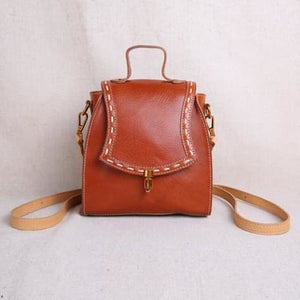 Luxurious Handcrafted Leather Designer Handbag & Crossbody Bag Brown Premium Leather