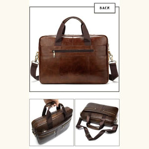 Luxury top Grain Leather Office Briefcase Laptop/shoulder Bag