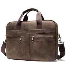 Load image into Gallery viewer, Luxury top Grain Leather Office Briefcase Laptop/shoulder Bag
