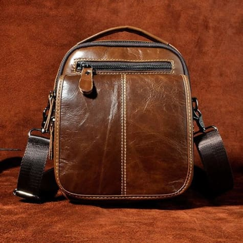 Maple Waxed Leather Hand/crossbody Bag Brown Premium Leather
