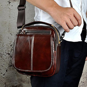 Maple Waxed Leather Hand/crossbody Bag Coffee Premium Leather