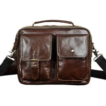 Load image into Gallery viewer, Market Street Leather One Shoulder Messenger Bag Brown Premium Leather