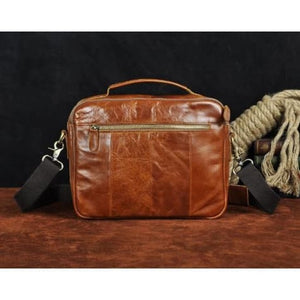 Market Street Leather One Shoulder Messenger Bag Premium Leather