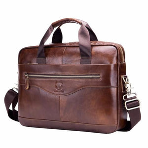 Men's Cowhide Leather Business Messenger/cross Body Bag Premium Leather