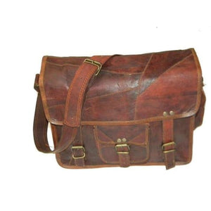 Men's Goat Leather Shoulder/messenger/satchel Bag Premium Leather
