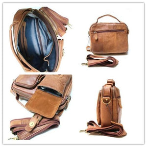 Men's Leather Mensageiro Shoulder Laptop & Crossbody Bag Premium Leather