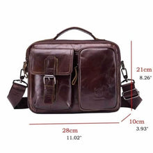 Load image into Gallery viewer, Men's Vintage Bullhide Messenger/crossbody Bag Premium Leather