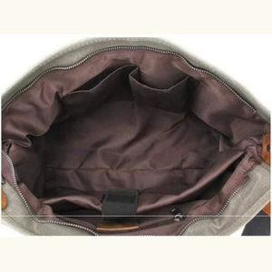 Messenger Bag,travel Bag. Leather/canvas Waterproof and Waxed Premium Leather