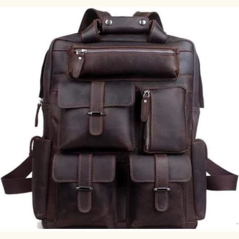 Modern Crazy Horse Leather Backpack/travel Bag Premium Leather
