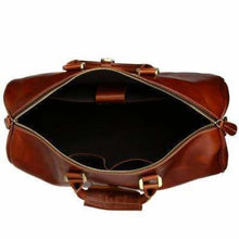 Load image into Gallery viewer, Modern Leather Carry Lite Holdall Travel & Luggage Bag Premium Leather