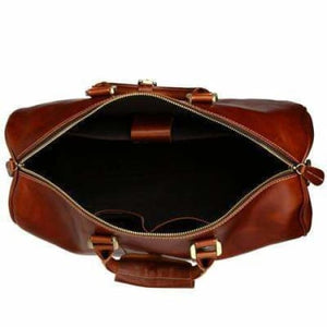 Modern Leather Carry Lite Holdall Travel & Luggage Bag Premium Leather