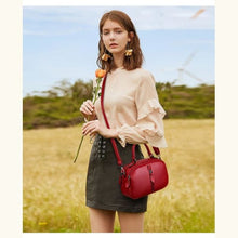 Load image into Gallery viewer, Monroe Leather Purse/shoulder/crossbody Bag Red Premium Leather