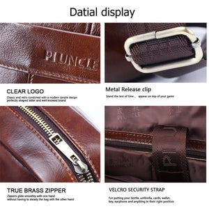 Natural Leather Business Messenger Laptop and Shoulder Bag
