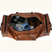 Load image into Gallery viewer, Natural Leather Full Grain Womens Travel Duffel Bag