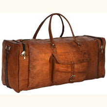 Load image into Gallery viewer, Natural Leather full Grain Women's Travel Duffel Bag Premium Leather